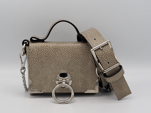 SUPERMINI CLUTCH EGGSHELL LEATHER