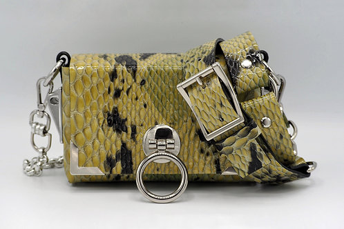 MINI CLUTCH SNAKE EMBOSSED LEATHER