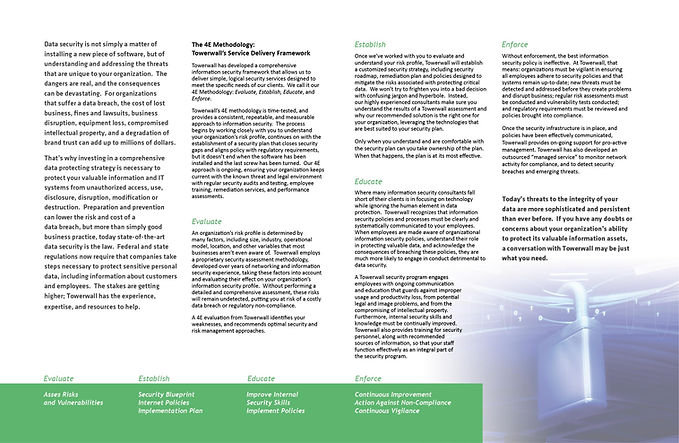 Brochure Inside Design Towerwall