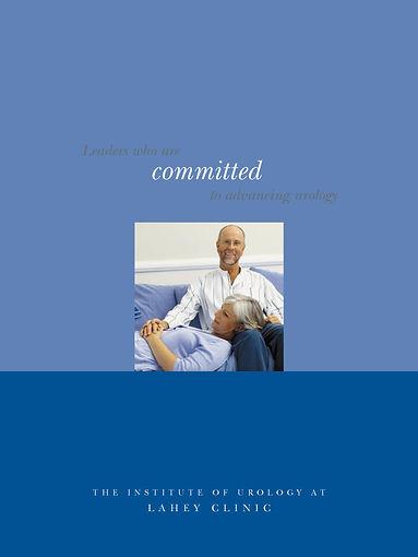 Portfolio Cover Design for Lahey Clinic Urology Department