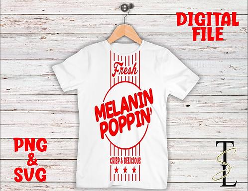 Melanin Poppin- DIGITAL FILE  (PNG & SVG)