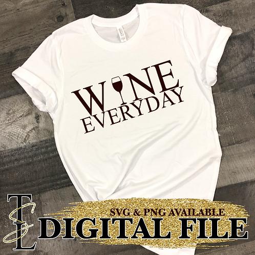 WINE EVERYDAY - DIGITAL FILE  (PNG & SVG)