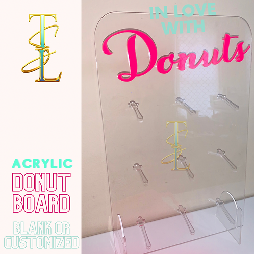 Customized with ACRYLIC (Permenant) Donut Board -  9 Donuts
