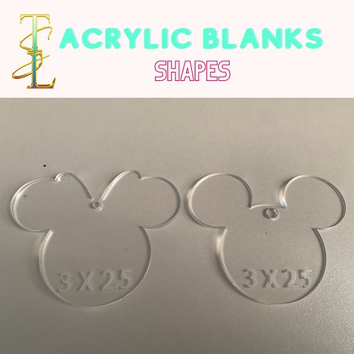 Acrylic Blanks - Shapes - 10 PIECES