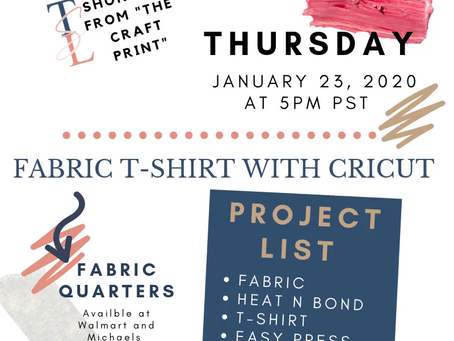 Fabric T-shirt - IG Live with Shondell