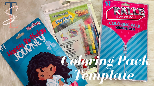 COLORING PACK TEMPLATE - PNG ONLY