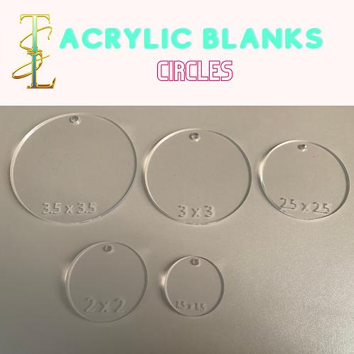 Acrylic Blanks - CIRCLES - 10 PIECES