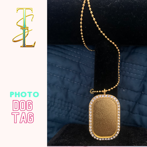 Dog Tag Photo Necklace