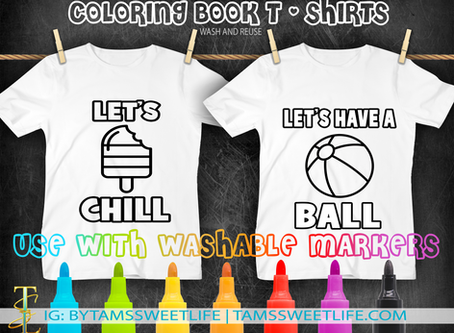 July Freebie - COLORING BOOK T-SHIRT FILE
