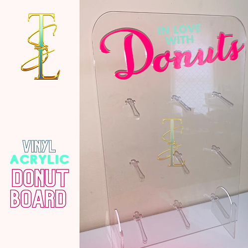 Customized with VINYL (Removable) Donut Board -  9 Donuts