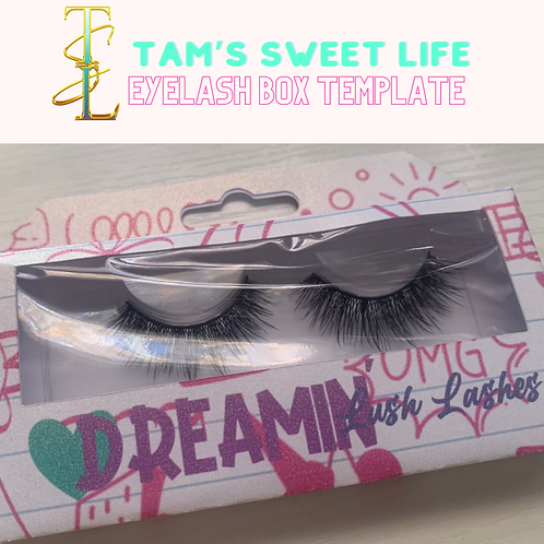 Eyelash Box Template