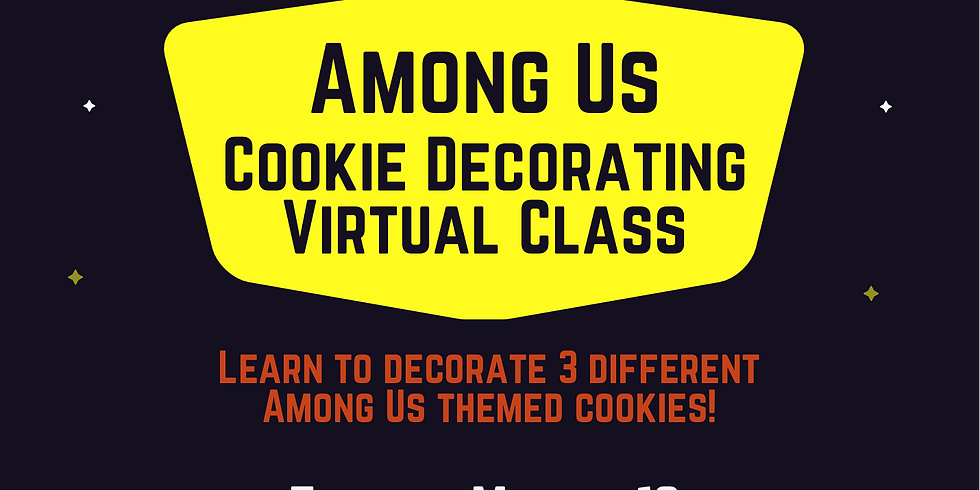 """LIVE Virtual  Cookie Decorating Class - """"Among Us"""""""