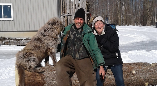 Michael, June and Charlie = owners of Robert L. Bowles Nature Centre