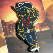 Welcome to New Vegas pins by ClayGrahamArt