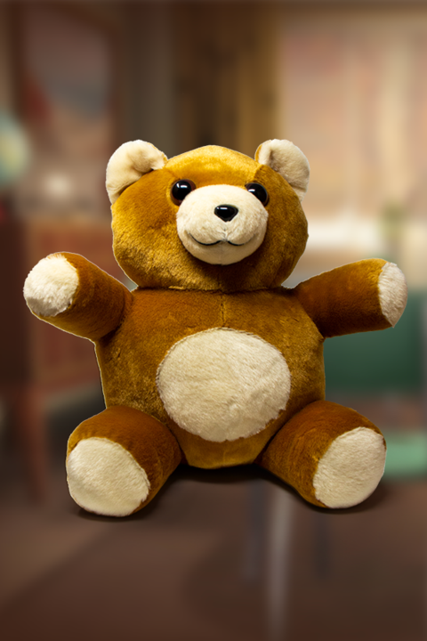 Cute and fluffy teddy bear plushie from Fallout in brown