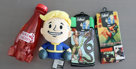 Fallout Socks, Nuka-Cherry, Vault Boy Stubbins Plush from GameStop