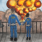 Fallout/Fight Club crossover fanart by LegendaryTreasures