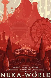 Welcome to Nuka-World Lithograph by Bethesda Gear