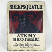 Sheepsquatch Ate My Brother! Flyer by TheWastelandCache