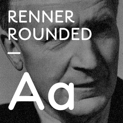 Typographie RENNER ROUNDED