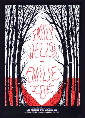Affiche du concert Emily Wells + Émilie Zoé