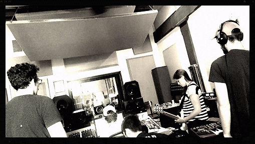 Layin down some tracks at Let Em In Studios, July 2015