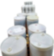 Barrels and pails of detergent for shipping.jpg
