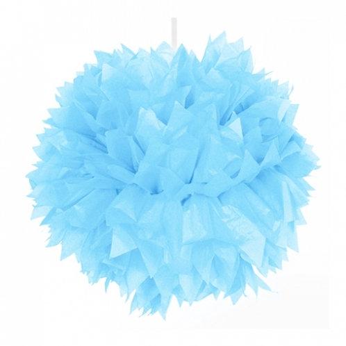 Pompon azul celeste 30 cms