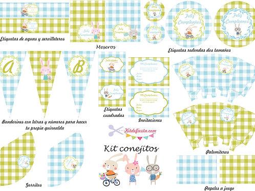 Kit Imprimible Conejitos