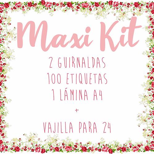 Maxi kit +vajilla para 24