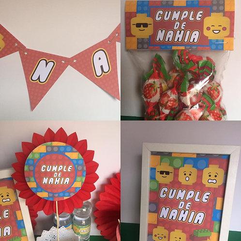 Kit de Fiesta cumpleaños Lego