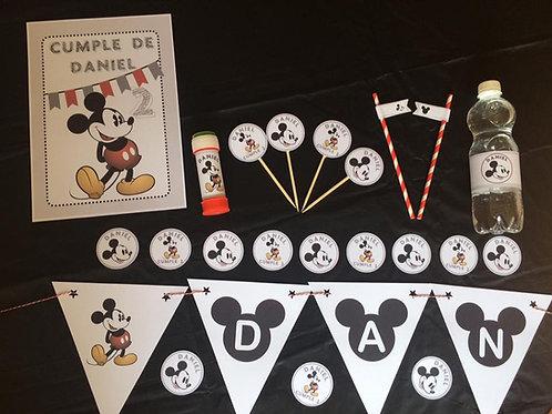 Kit de fiesta cumpleaños Mickey Vintage