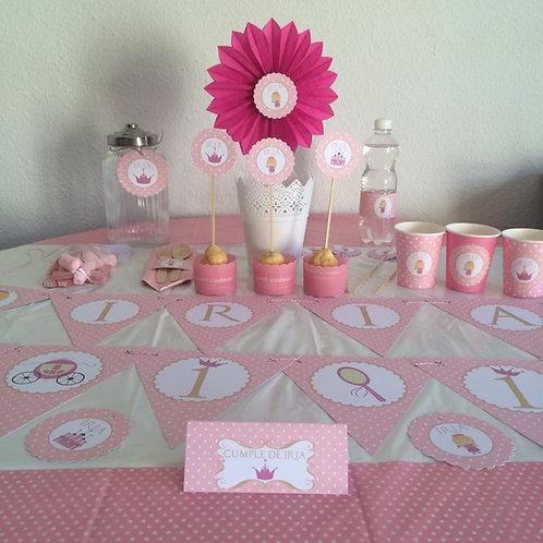 Kit de fiesta cumpleaños Princesita