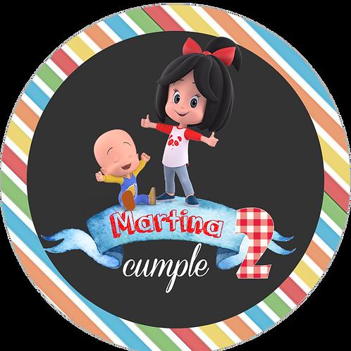 kit Fiesta Cumpleaños familia Telerin Cleo y Cuquin