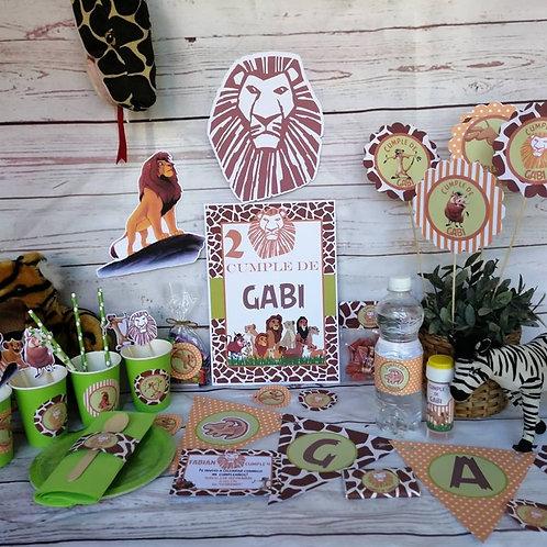 Kit de Fiesta cumpleaños Rey León