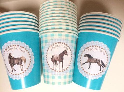 Kit de fiesta caballos azul