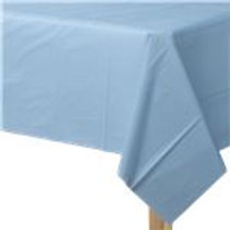 Mantel plastico azul pastel