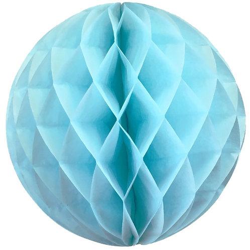 Bola nido de abeja azul celeste 30 cms