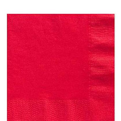 Pack 20 servilletas medianas rojo 33cms