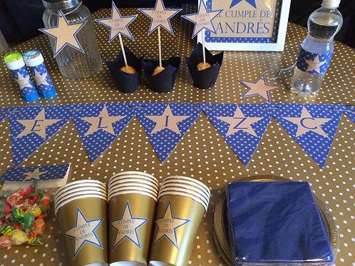 Kit de fiesta Estrellas Doradas
