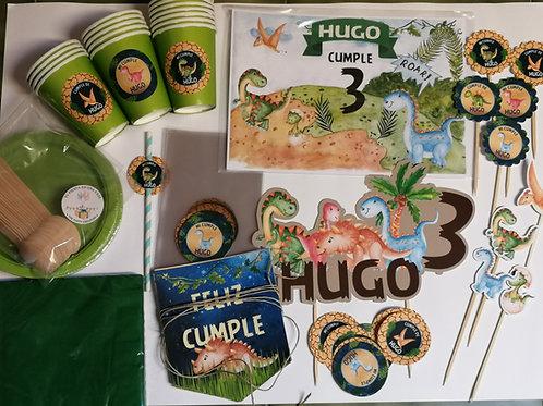 Kit de fiesta cumpleaños Dinosaurios