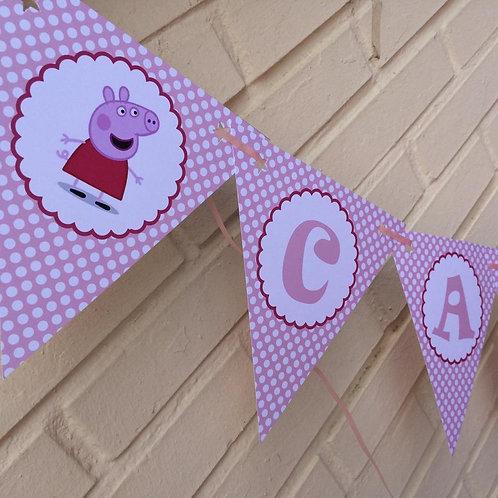 Kit de fiesta Peppa Pig Rosa