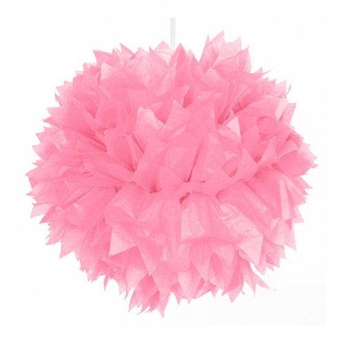 Pompon rosa 30 cms