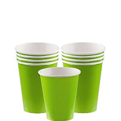 Pack de 8 Vasos de cartón verde kiwi