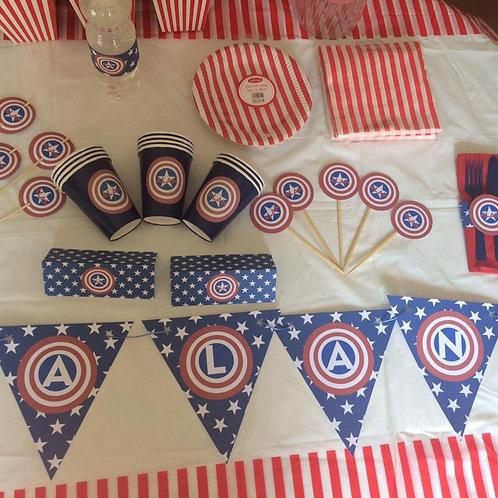 Kit de fiesta Capitán América
