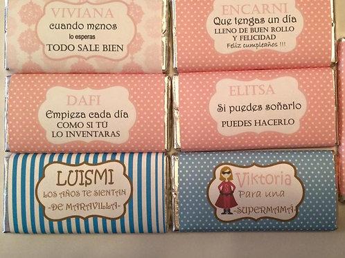2 Chocolatinas 20 gr con Mensaje
