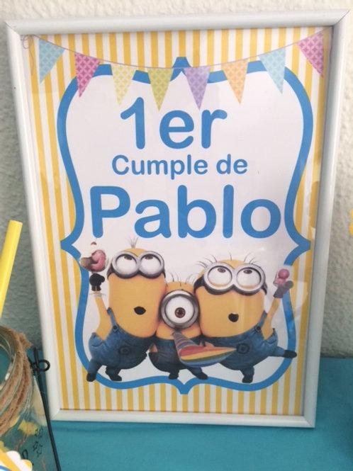 Kit de fiesta cumpleaños Minions