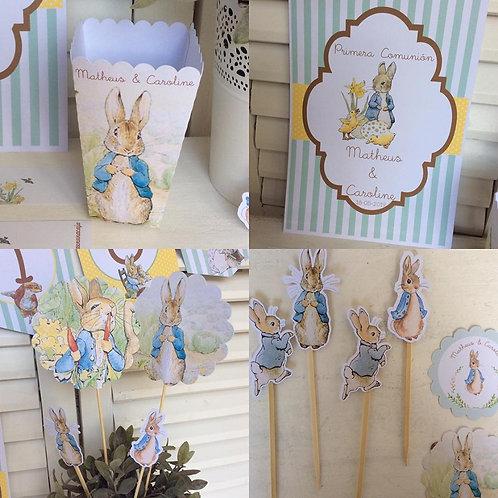 Kit de Fiesta Cumpleaños Peter Rabbit