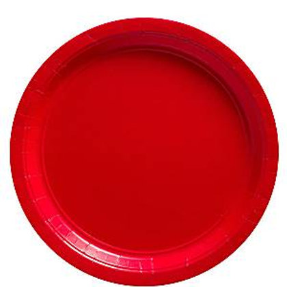 Pack 8 Platos rojo