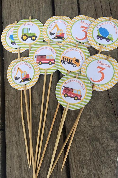 Kit de Fiesta cumpleaños Camiones